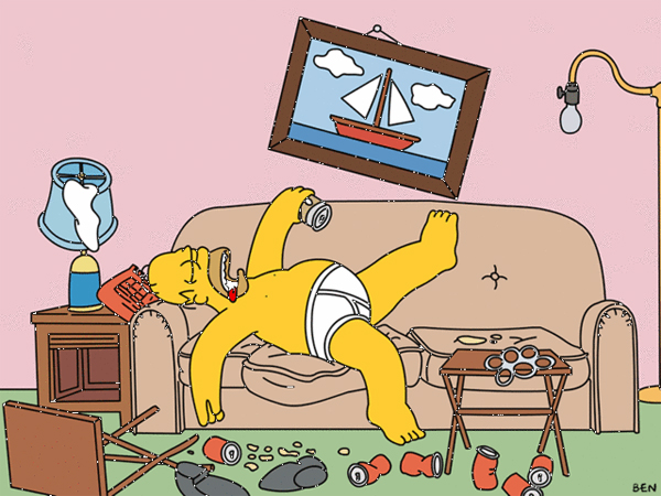 Homer Simpson - couch potato